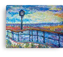 Clocking the Boardwalk Canvas Print