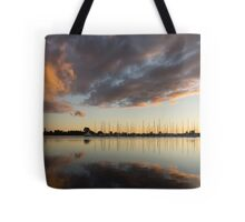 Boats and Clouds Summer Sunset Tote Bag