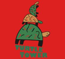 Turtle Tower One Piece - Short Sleeve