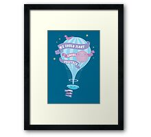 We could float among the stars together, you and I Framed Print