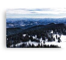 Snowy Ridges - Impressions of Mountains Canvas Print