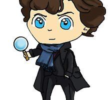 Chibi Sherlock by Zefkiel