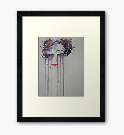 Coloured Tears Framed Print
