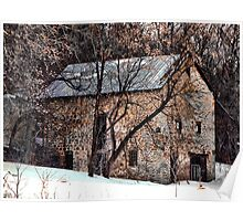 The Cottage Stone Barn of Dunlop Hollow Poster