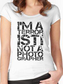 Terrorist Not A Photographer Women's Fitted Scoop T-Shirt