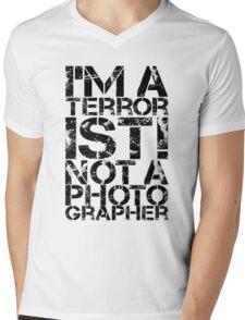 Terrorist Not A Photographer Mens V-Neck T-Shirt