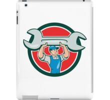 Mechanic Lifting Spanner Wrench Circle Cartoon iPad Case/Skin