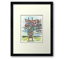 Delux Motel Framed Print