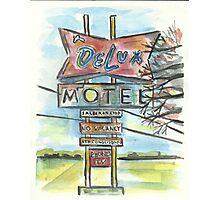 Delux Motel Photographic Print