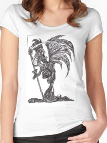 Necronomicon: The Flesh Reaper Women's Fitted Scoop T-Shirt