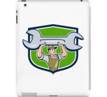 Mechanic Lifting Spanner Wrench Shield Cartoon iPad Case/Skin