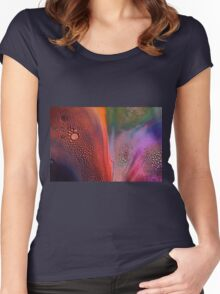 Bubbles of Colour Women's Fitted Scoop T-Shirt