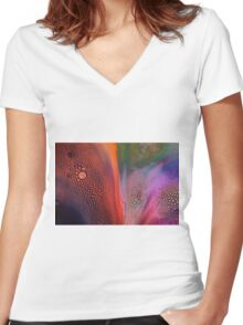 Bubbles of Colour Women's Fitted V-Neck T-Shirt