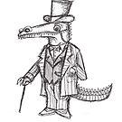 Poshodile: The Crocodile Dandy by Extreme-Fantasy