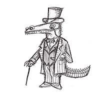 Poshodile: The Crocodile Dandy Photographic Print