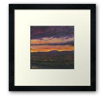 Sunset Over Belfast Framed Print