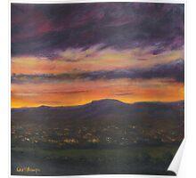 Sunset Over Belfast Poster