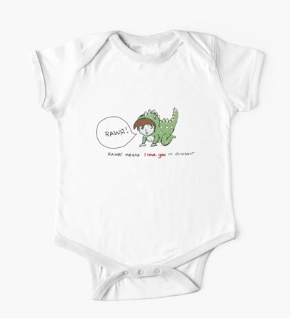 RAWR! it means i love you in dinosaur One Piece - Short Sleeve