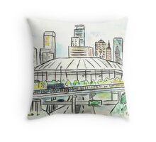 Metrodome Throw Pillow