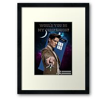Would you be my companion? Framed Print