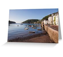 Bayard's Cove and the River Dart Greeting Card