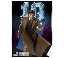 Tenth Doctor - Greeting Card Poster