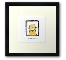 SELF PAWTRAIT Framed Print