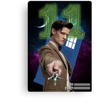 11th Doctor Greeting Card Canvas Print