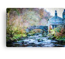 Bridge in Winter Canvas Print