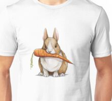 Bunny Eating a Carrot Unisex T-Shirt