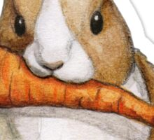 Bunny Eating a Carrot Sticker