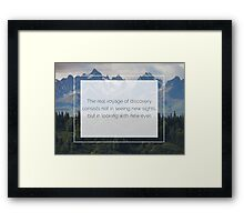 The beauty is in the eyes of the beholder Framed Print