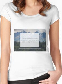 The beauty is in the eyes of the beholder Women's Fitted Scoop T-Shirt
