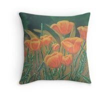 Poppies of the Field Throw Pillow