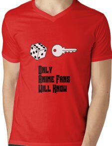 Only Anime Fans Will Know - Dice Key Mens V-Neck T-Shirt
