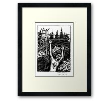 Bird on a wire... Framed Print