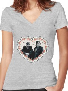 Hearted Sheriarty Women's Fitted V-Neck T-Shirt