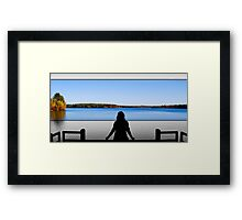 Autumn Sillouette Framed Print