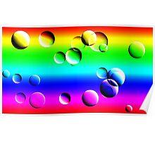 Rainbow bubbles Poster