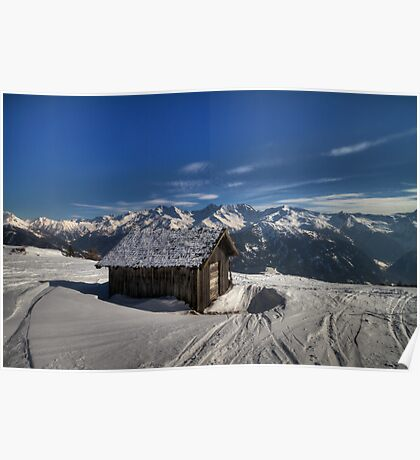 Alpine Hut with a view Poster