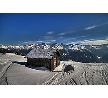 Alpine Hut with a view Photographic Print