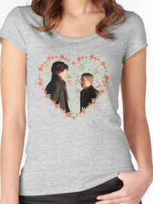 Johnlock- Heart (One) Women's Fitted Scoop T-Shirt