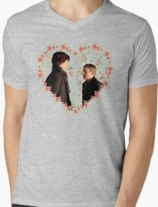 Johnlock- Heart (One) Mens V-Neck T-Shirt