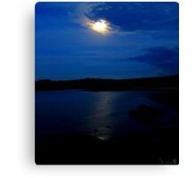 Moonlit Lake Canvas Print