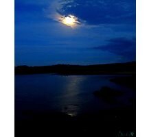 Moonlit Lake Photographic Print