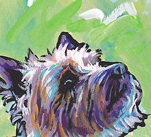 Cairn Terrier Dog Bright colorful pop dog art by bentnotbroken11