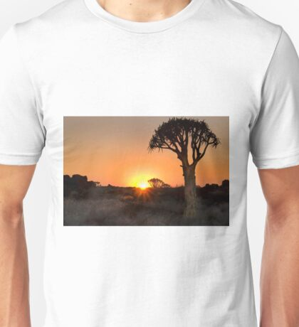 Quiver Tree Dawning - Namibia Africa Unisex T-Shirt