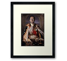 The Current King Of England- Mycroft Holmes Framed Print