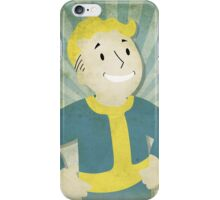 Vault Boy Vintage Poster iPhone Case/Skin