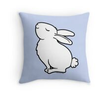 Proud Albino Rabbit - White Throw Pillow